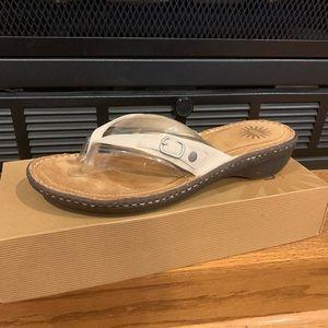 UGG White Kamiko Sandals
